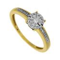 Pierścionek zaręczynowy z diamentami LEMON KU 101467 próba 585 Sezam - 1