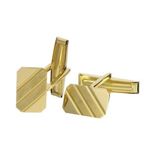 Złote spinki męskie do mankietów nr OS 32-PL01 Sezam - 1