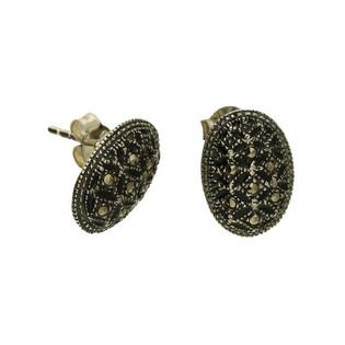 Kolczyki srebrne z kolekcji Wiktorii z markazytami numer MLKK0210 Sezam - 1