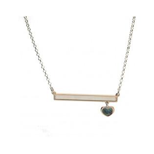 Naszyjnik srebrny serce z blaszka masa perłowa nr TA CLT7891 próba 925 Sezam - 1