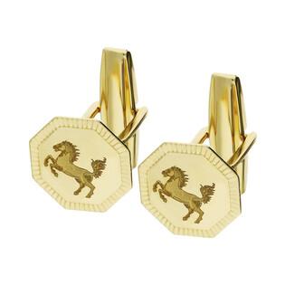 Spinki męskie złote do mankietów mustang numer PF01-SP GS Au 585 Sezam - 1