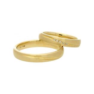 Obrączki złote jednokolorowe nr A9 085WR Sezam - 1