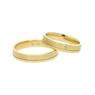 Obrączki złote jednokolorowe nr A9 067WR Sezam - 1
