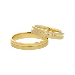 Obrączki złote jednokolorowe nr A9 066WR Sezam - 1