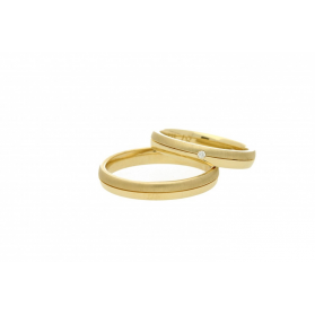 Obrączki złote jednokolorowe nr A9 087WR Sezam - 1
