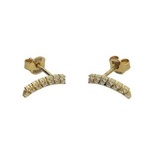 Kolczyki łuk cyrkonie ząbki-sztyft MZ E0816-7-CZ próba 585 Sezam - 1