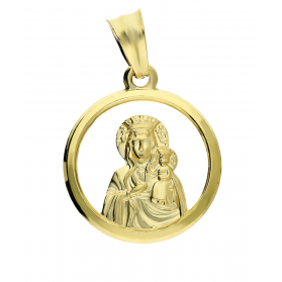 Medalik Częstochowska okrągła ramka DJ104 próba 585
