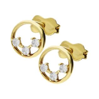 Kolczyki złote kółko cyrkonie AR XCE5647-FCZ Au 333 Sezam - 1
