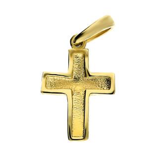 Krzyżyk złoty gładki CA EHKU170044 próba 585