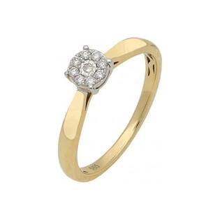 Pierścionek złoty z diamentami SWEET AW 53536 YW próba 585 Sezam - 1