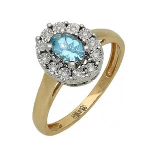 Pierścionek zaręczynowy topaz blue 395M-BT Markiza Magic próba 585 Sezam - 1