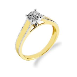 Pierścionek zaręczynowy z diamentami MIRAGE nr. RQ 278M, 14 karat