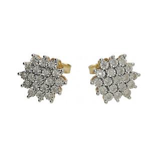 Kolczyki złote z diamentami BRIDELL nr RQ 305ME Au 585 Sezam - 1