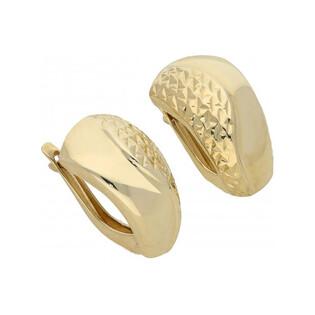 Kolczyki złote blaszki poszerzane nr AR XXDCNSE7746 Au 333 Sezam - 1