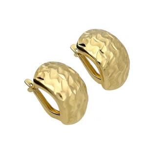 Kolczyki złote blaszki grawer AR 2325-78 Au 585 Sezam - 1