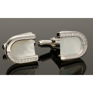 Spinki srebrne do mankietów nr JA205 Sezam - 1