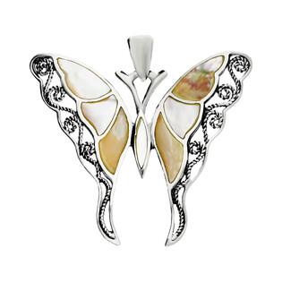 Zawieszka motyl z masą perłową NI XX23 B próba 925