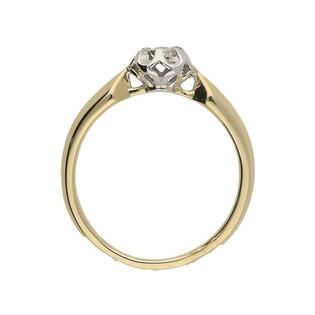 Pierścionek zaręczynowy z diamentem FLOWER nr. KU 6950 próba 585 Sezam - 1