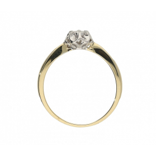 Pierścionek złoty zaręczynowy z diamentem FLOWER Magic KU 6940 próba 585 Sezam - 1