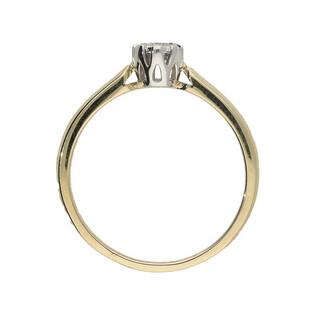Pierścionek zaręczynowy z diamentem ROYAL Magic nr. KU 68602 próba 585 Sezam - 1
