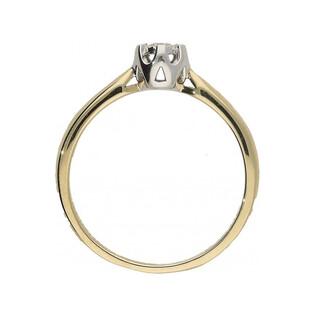 Pierścionek zaręczynowy z diamentem FLOWER Magic nr. KU 68102 próba 585 Sezam - 1