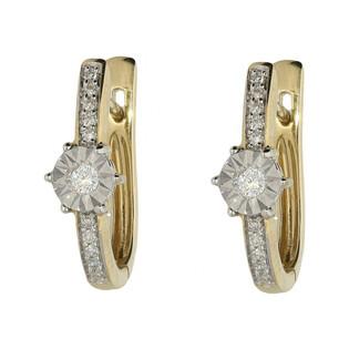Kolczyki złote z diamentami nr KU 1619 Sezam - 1