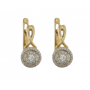 Kolczyki złote z diamentami nr KU 101848-100072 Sezam - 1