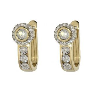 Kolczyki z diamentami nr KU 1302 Sezam - 1