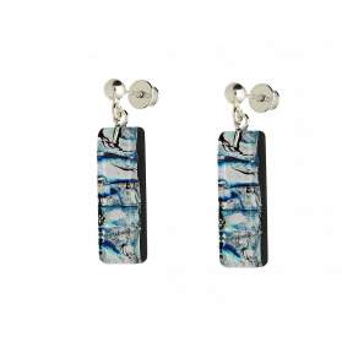 Kolczyki CALLE-FARO blue silver KQ WSZ717 próba 925 Murano - 1