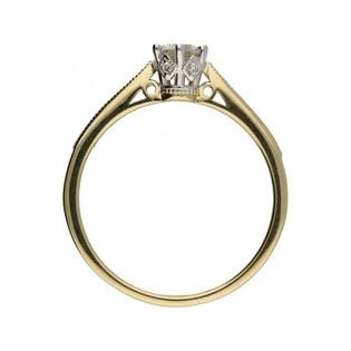 Pierścionek zaręczynowy z diamentami ROYAL RS0313 próba 585 Sezam - 1