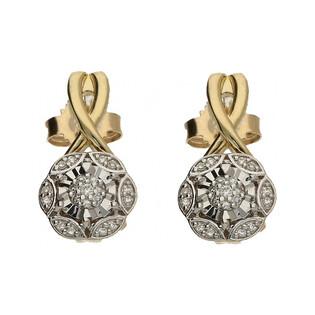 Kolczyki złote z diamentami nr KU 101530-101789 Sezam - 1