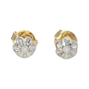 Kolczyki z diamentami na sztyft nr KU 36510 Y Sezam - 1