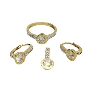 Kolczyki złote z cyrkoniami nr OS 96-5221-BO Au 585 Sezam - 1