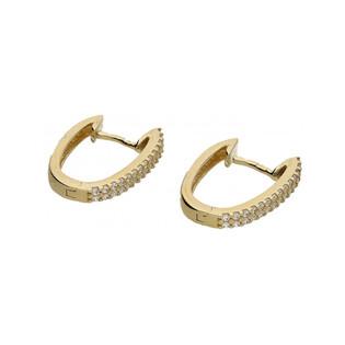 Kolczyki złote przecinki z cyrkoniami nr OS 96-5347-CS Au 585 Sezam - 1