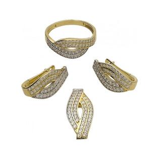 Kolczyki złote z cyrkoniami nr OS 96-9074 Au 585 Sezam - 1