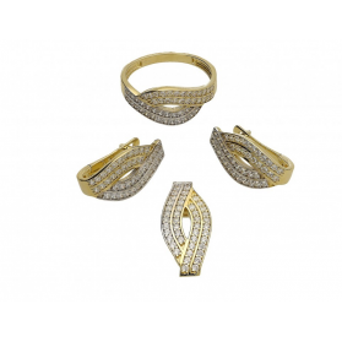 Zawieszka złota z cyrkoniami numer OS 96-9074 Au 585 Sezam - 1