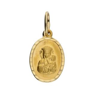 Medalik złoty z wizerunkiem Matki Boskiej Częstochowskiej nr SF SF6 Au 585 Sezam - 1