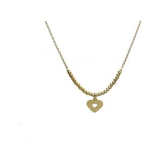 Naszyjnik złoty serce numer AR 2220-III-DC Au 585 Sezam - 1