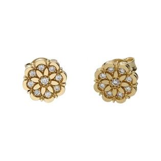 Kolczyki złote kwiatki nr MX 17CE0087-Y Au 333 Sezam - 1
