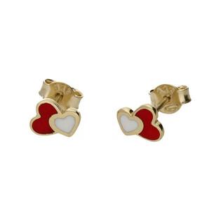 Kolczyki złote serca nr MX 17EE0004-PW Au 333 Sezam - 1