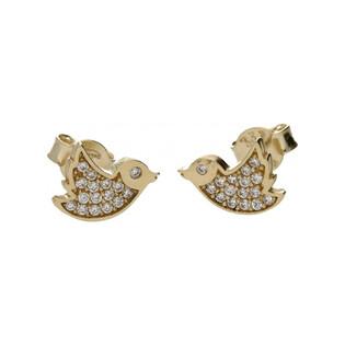 Kolczyki złote ptaszki nr MX 17CE0294-Y Au 333 Sezam - 1