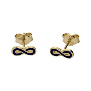 Kolczyki złote nieskończoność emalia nr MX 17EE0029-G Au 333 Sezam - 1