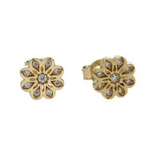 Kolczyki złote kwiatki nr MX 17CE0081-Y Au 333 Sezam - 1