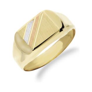 Sygnet męski złoty prostokątny nr OS 208-3021-AN Au 585 Sezam - 1