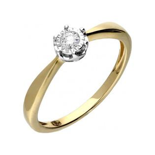 Pierścionek zaręczynowy z diamentem Soliter Magic nr RQ 509M Sezam - 1