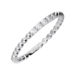 Pierścionek RINGS cyrkonia x5 szyna bead AR 5201-W-FCZ próba 585 Sezam - 1