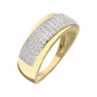 Pierścionek zaręczynowy z brylantami LINE KU 107353 próba 585 Sezam - 1