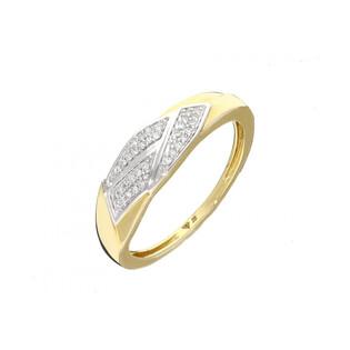 Pierścionek złoty zaręczynowy z diamentami KU 107261 próba 585 Sezam - 1