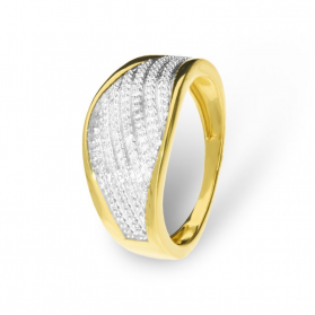 Pierścionek zaręczynowy z brylantami nr KU 106863 Sezam - 1