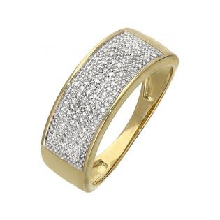 Pierścionek złoty zaręczynowy z diamentam LINE Ki LU 106730 próba 585 Sezam - 1